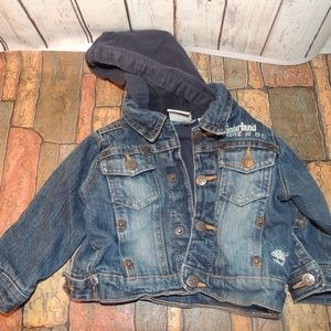Timberland jean coat with hood 6/9M